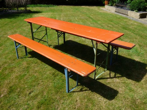Folding German Beer Garden Sets - £150